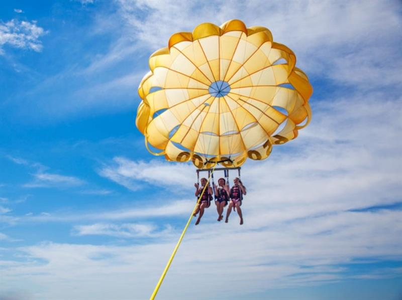 Free Adult Parasailing in Season